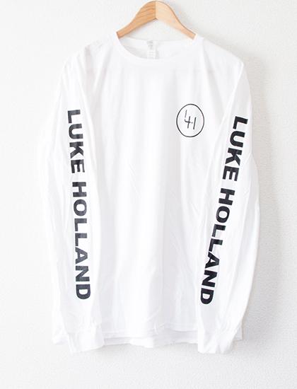 【LUKE HOLLAND】Logo Long Sleeve (White)