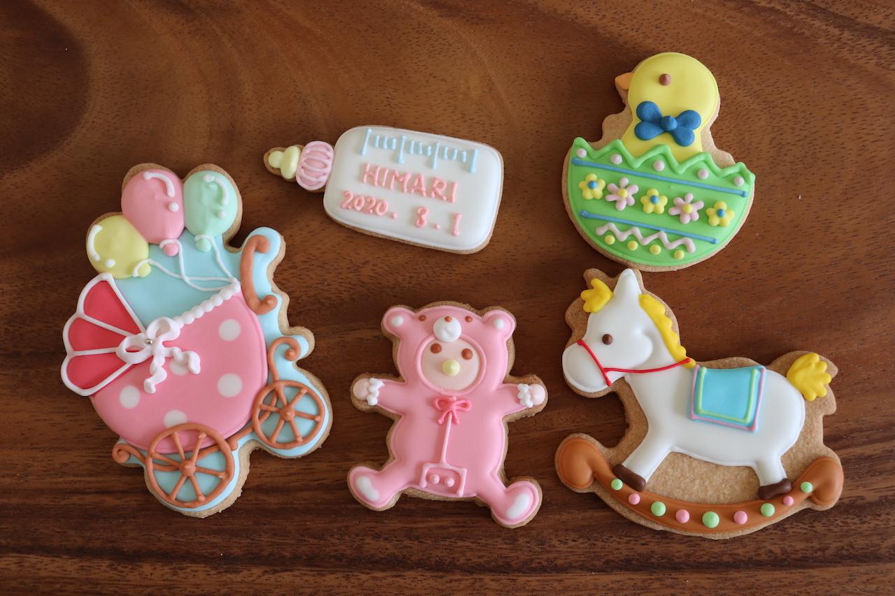 ベイビーBOX ピンク 【名入れオプション有】アイシングクッキー