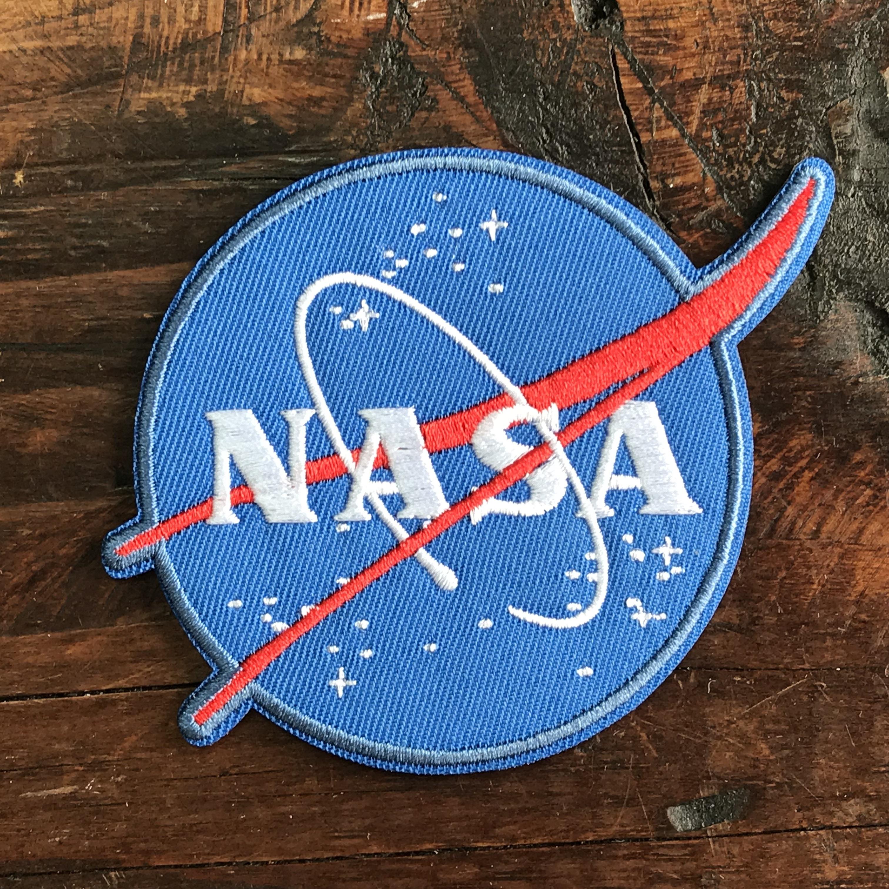 NASA公認(アメリカ航空宇宙局)ワッペン・アップリケ・NASAロゴ・インサイニア(ミートボール)