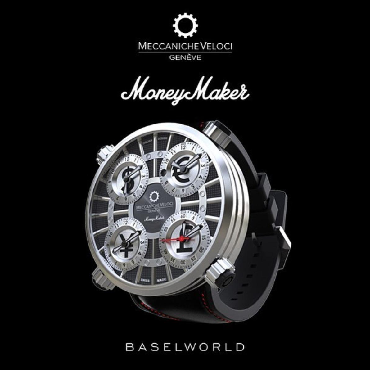 【MECCANICHE VELOCI メカニケ・ヴェローチ】MoneyMaker black マネーメーカー(ブラック) 世界限定250本/国内正規品 腕時計