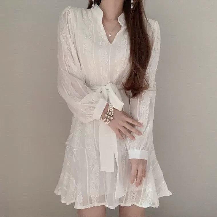 chiffon love dress 2color