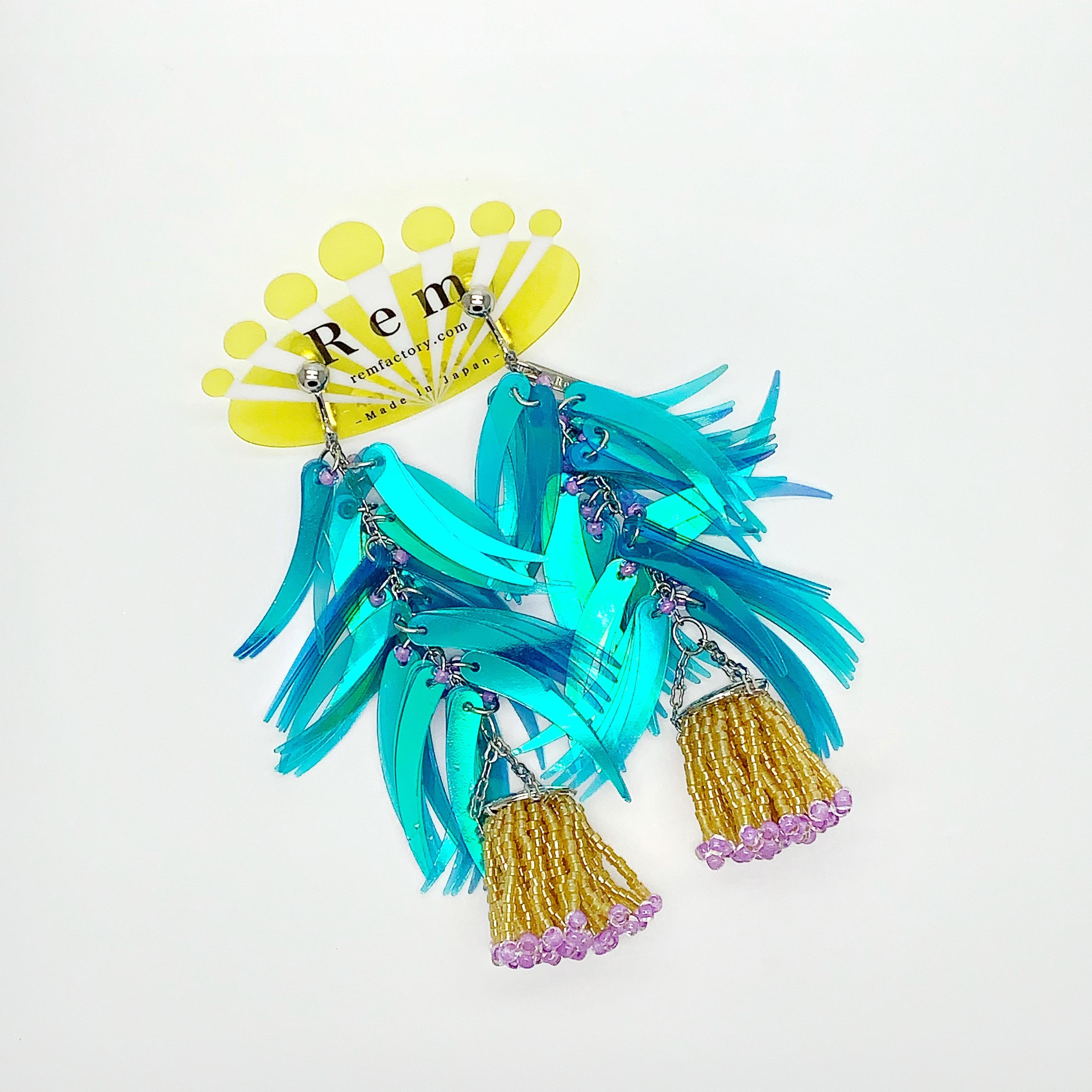 Rem つぼみ耳飾りブルー イヤリング
