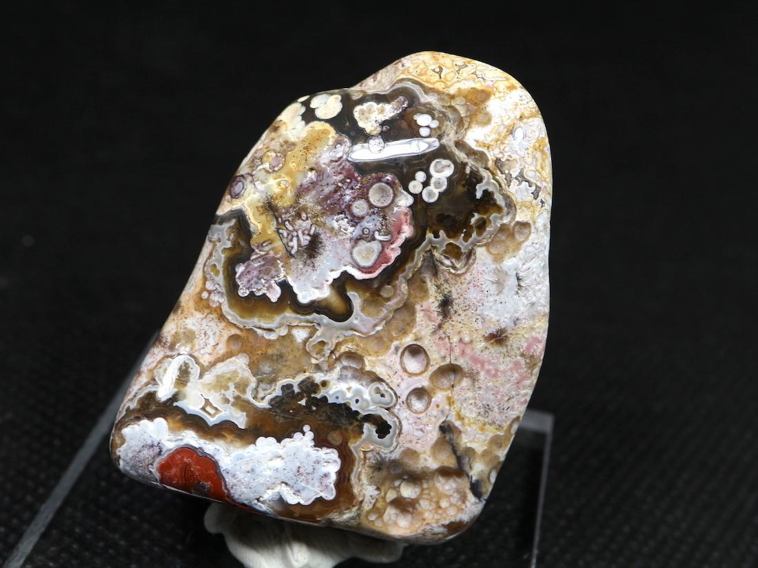 メキシコ クレイジーレース アゲート 31,4g AG090  鉱物 原石 天然石 パワーストーン
