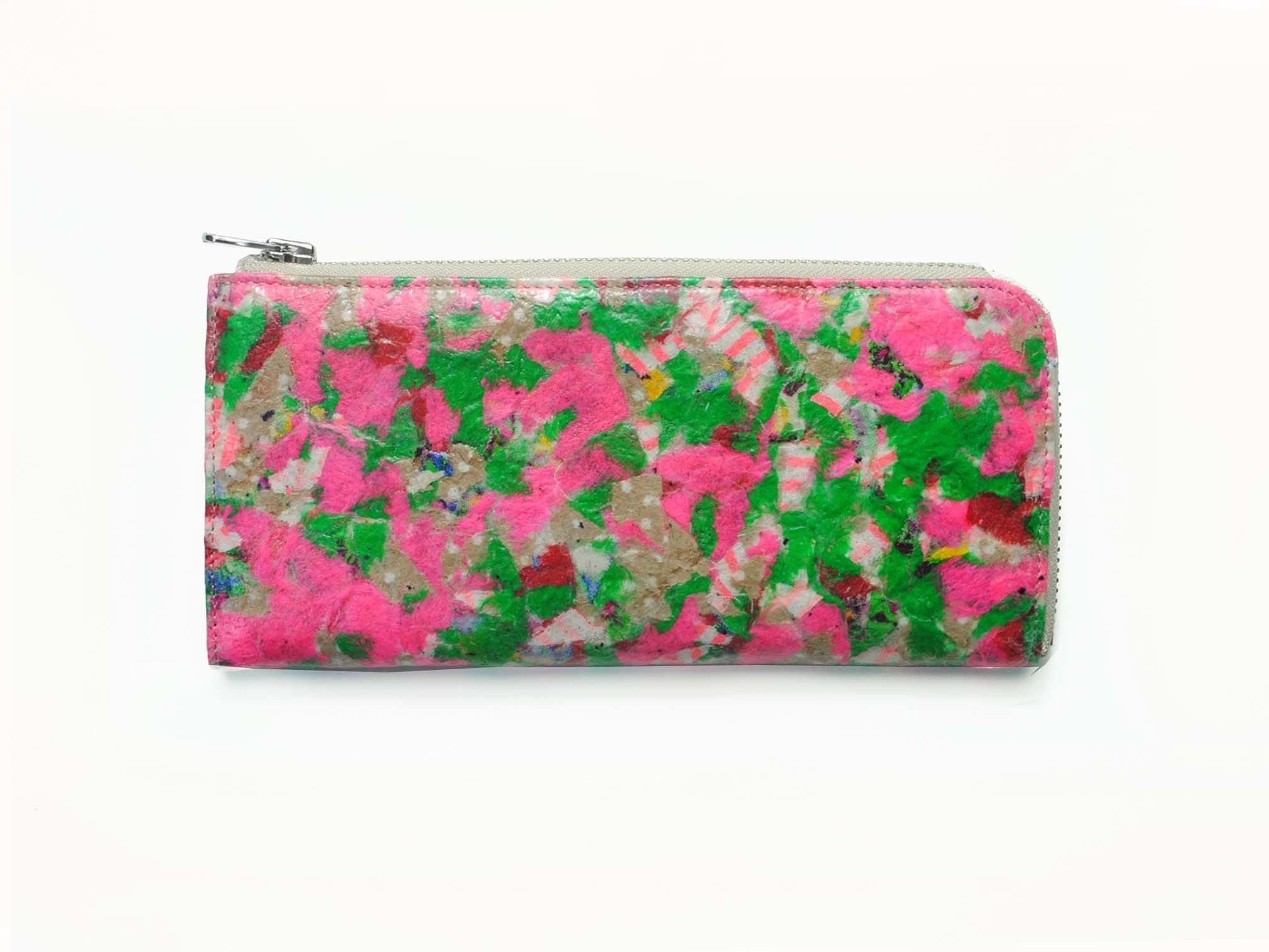 0-191-443 Schure Wallet [Lotus] Pink x Green