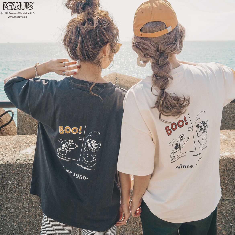 人気Instagramerセレクトのイラストで実現!PEANUTSプリントTシャツ