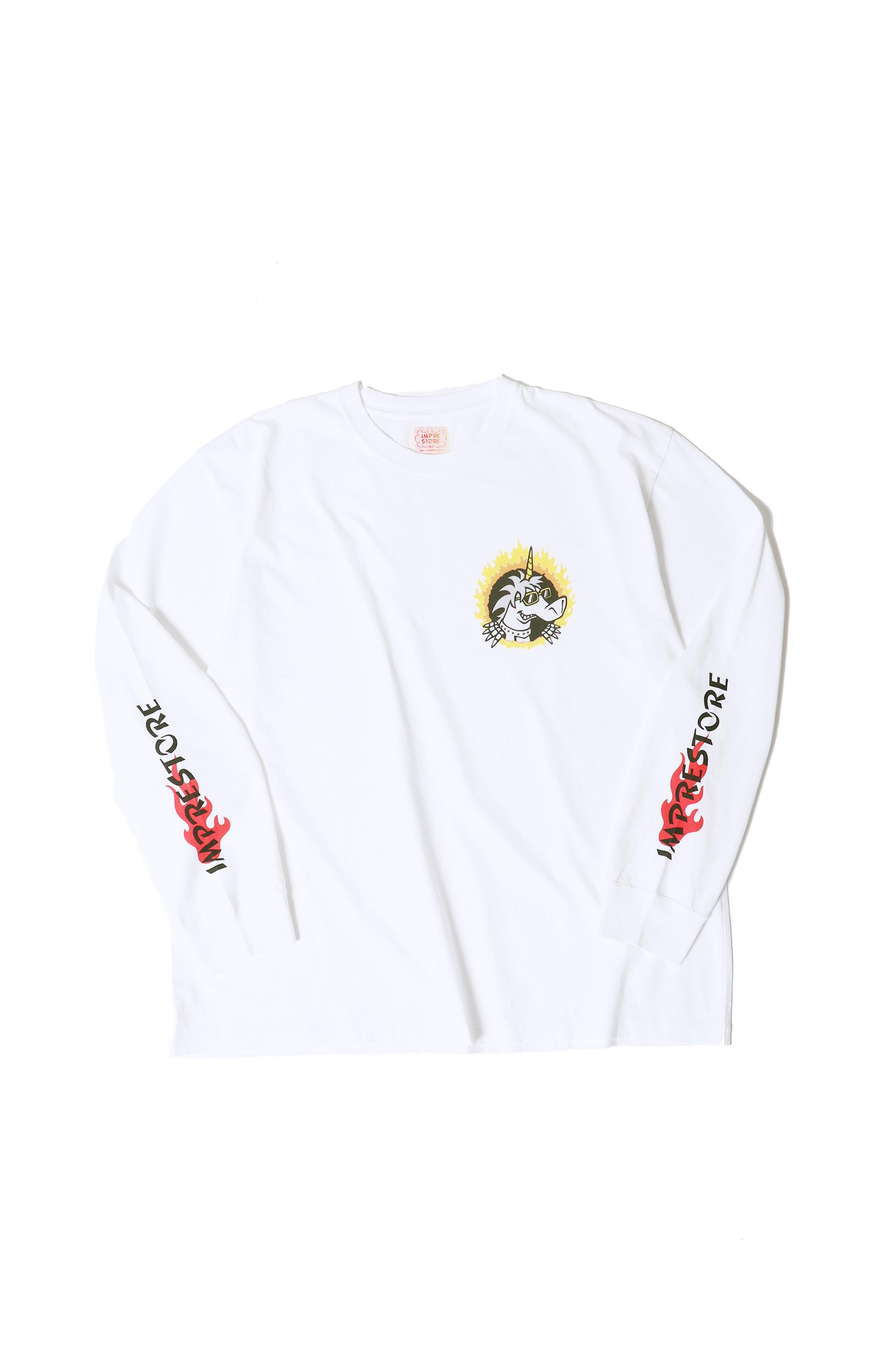 Original Long Sleeve-T / FIRE / white