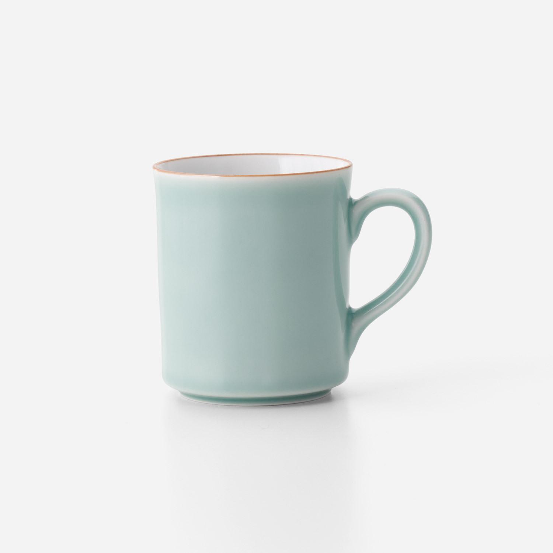No.44 青磁口錆掛分けマグカップ A