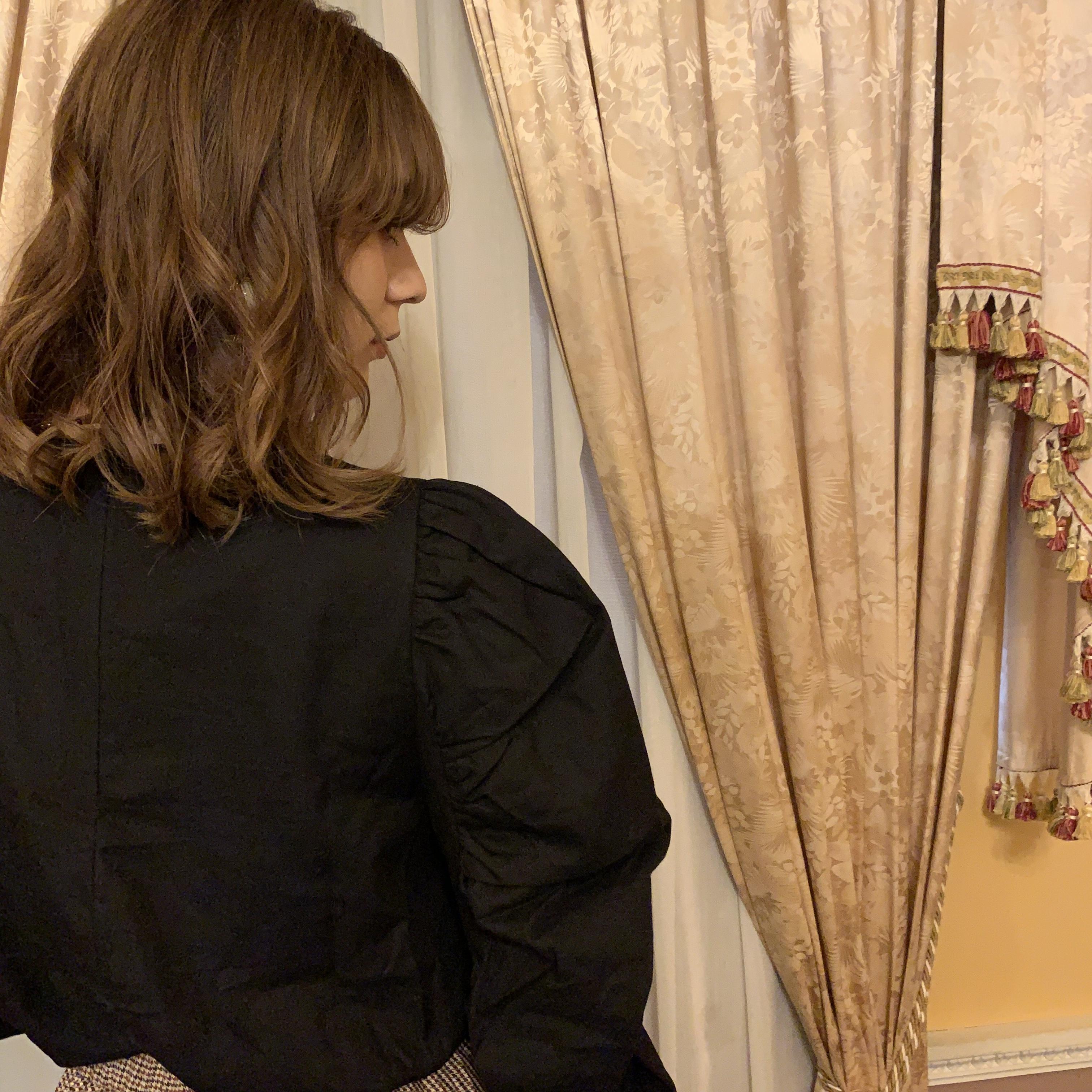power shoulder blouse
