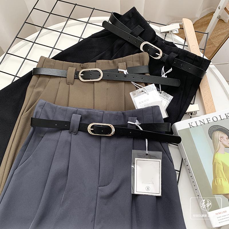 〈Ranking No.3〉ベルト付きハイウエストパンツ【belt high waist pants】
