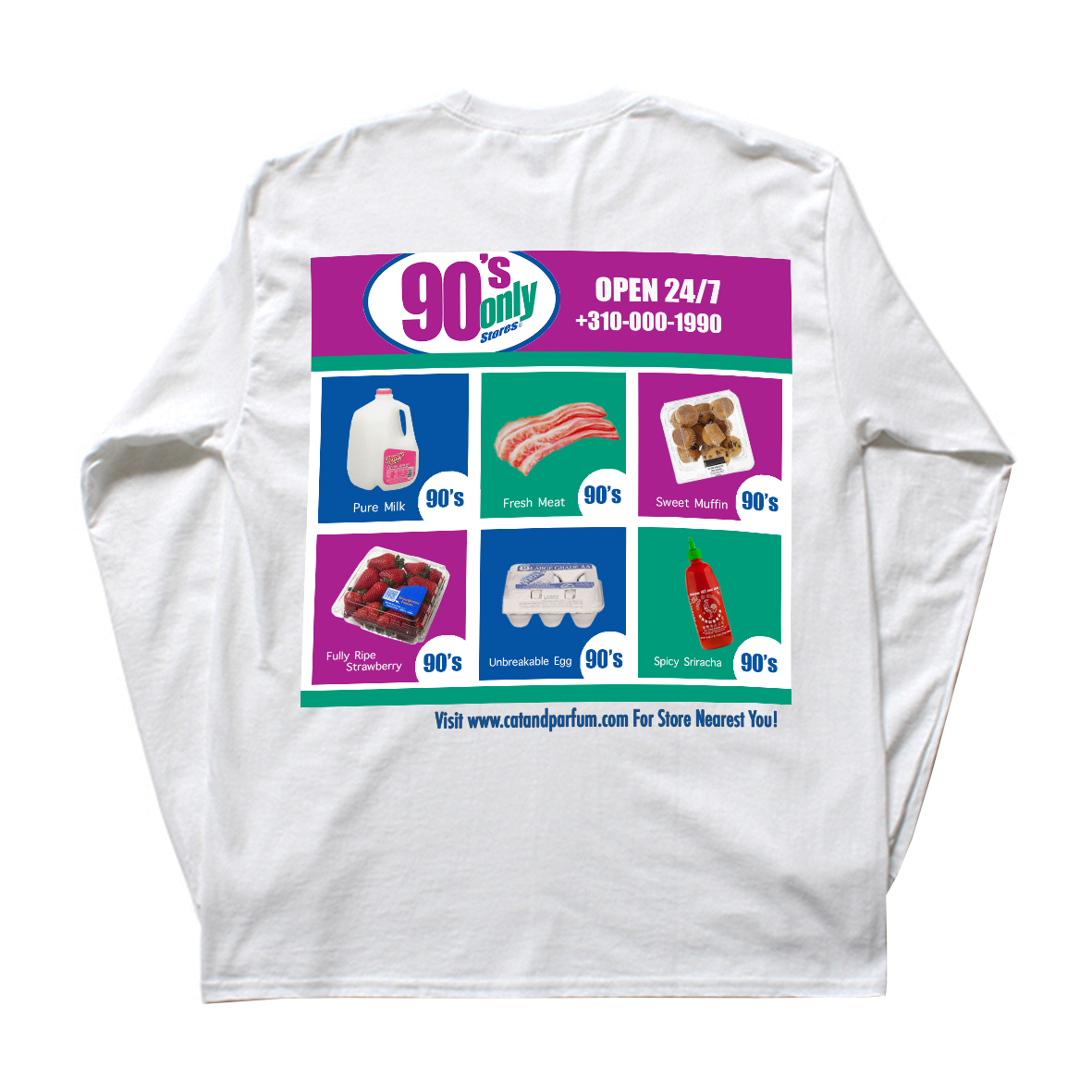 【Cat & Parfum】90's Only Store Graphic Long Sleeve