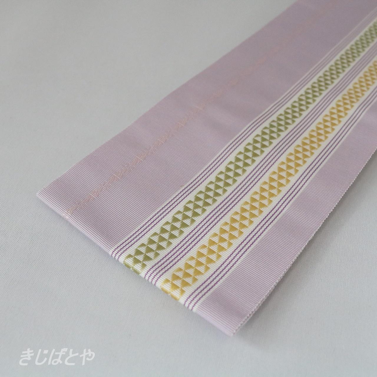 正絹 博多織の伊達締め 白菫