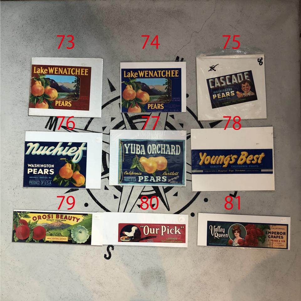 ヴィンテージ カリフォルニアフルーツ 木箱ラベル ポスター 9