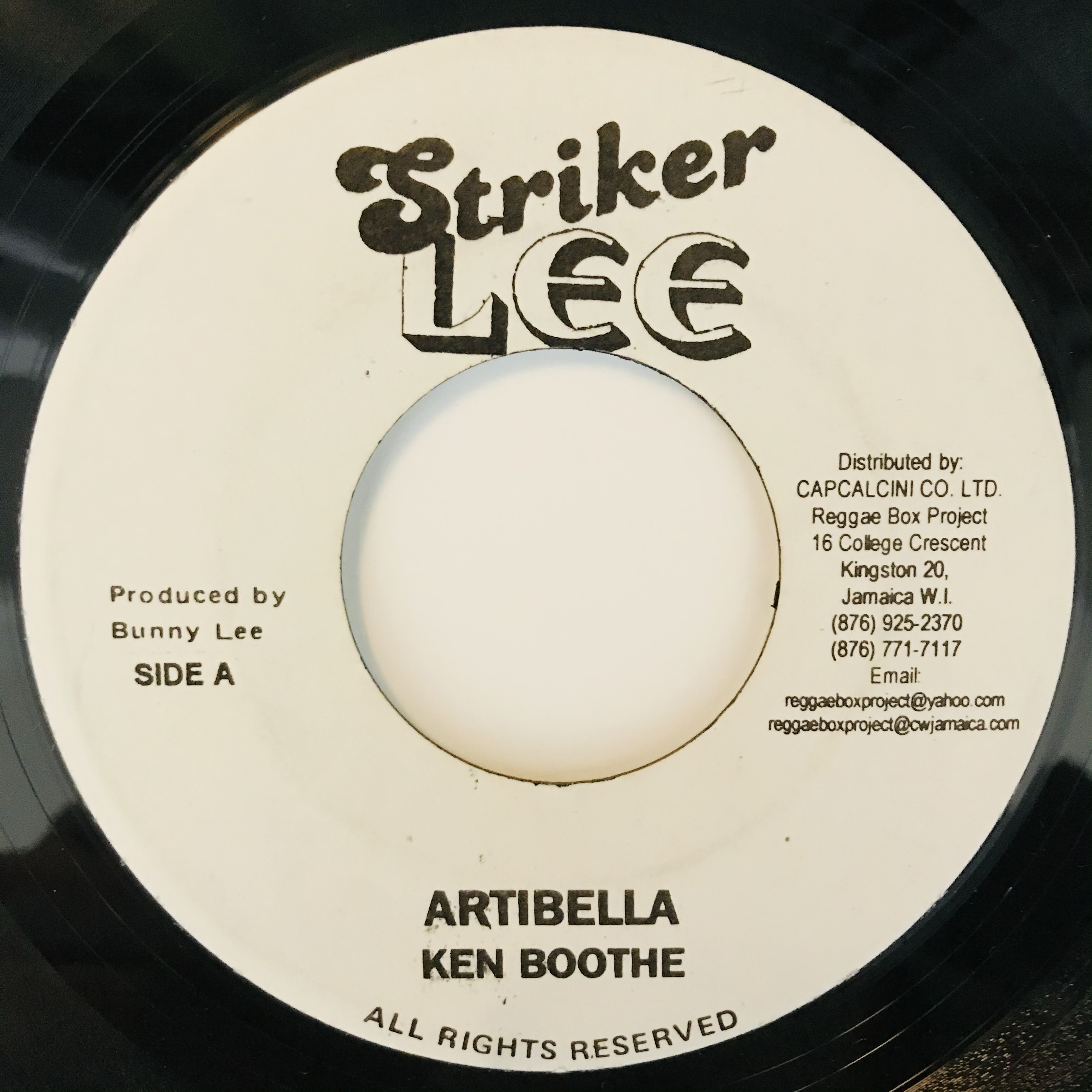 Ken Boothe - Artibella【7-11042】