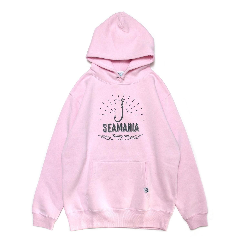 【Seamania】フックモチーフプルパーカー [ライトピンク]
