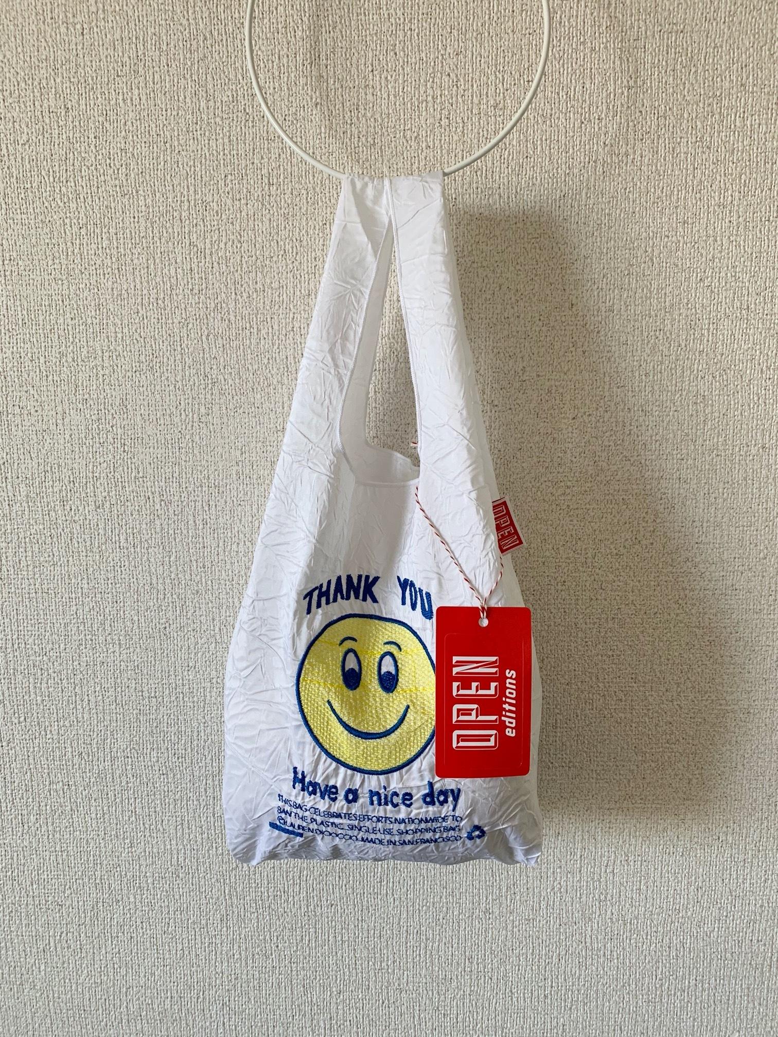 再入荷!【OPEN EDITIONS / 送料無料】THANK YOU MINI エコバッグ/ SMILE White