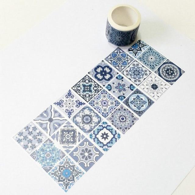麒麟マスキングテープ 藍花磚