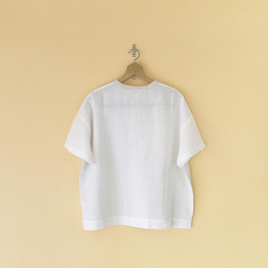 Fabrique en planete terre ファブリケアンプラネテール コンビネーションショートスリーブTシャツ・ホワイト
