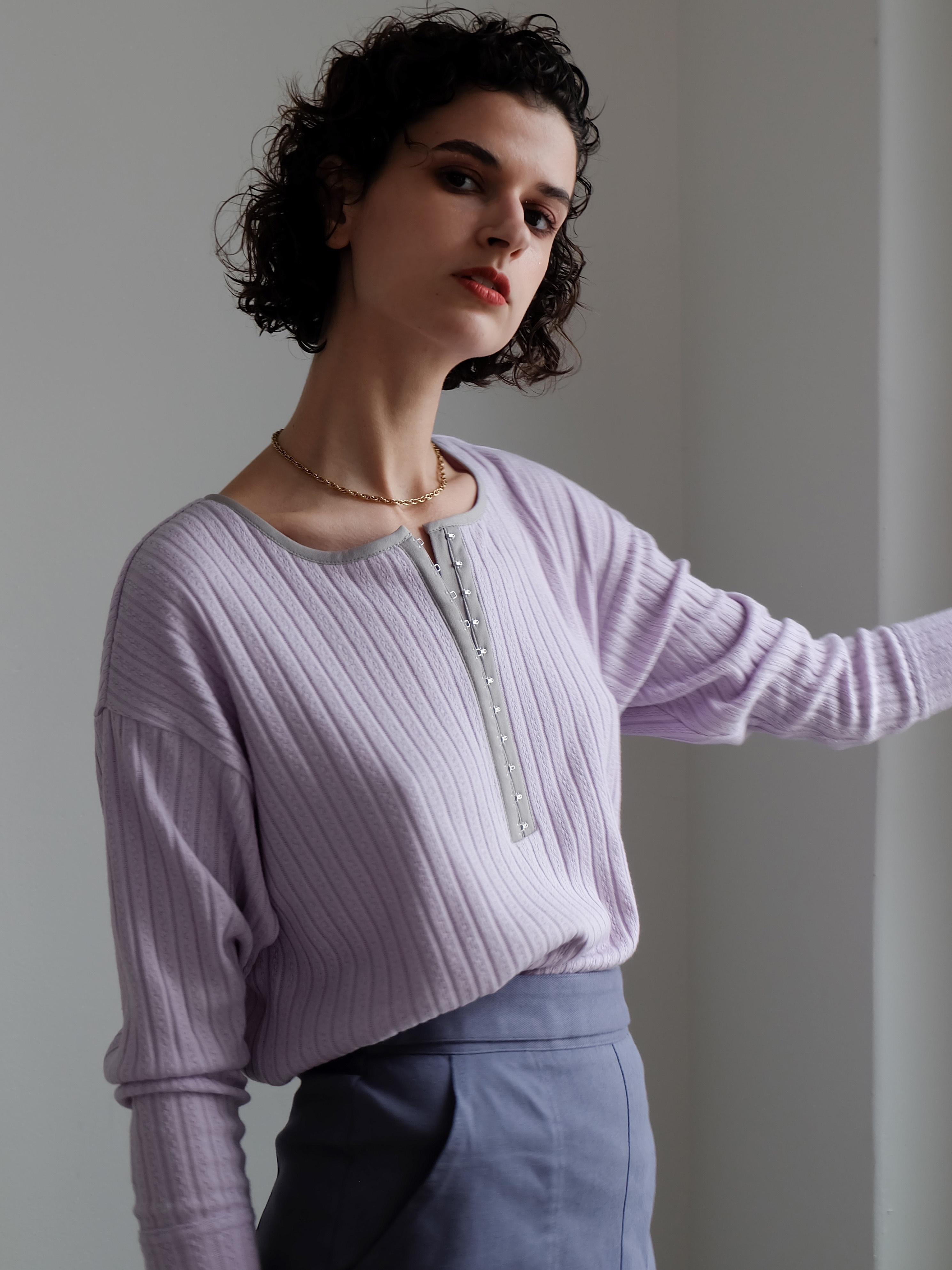 piping hook tops(lavender)