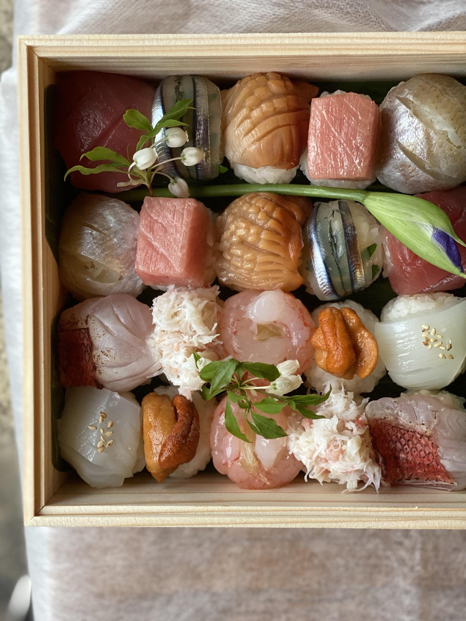 緑香の手毬寿司 一段
