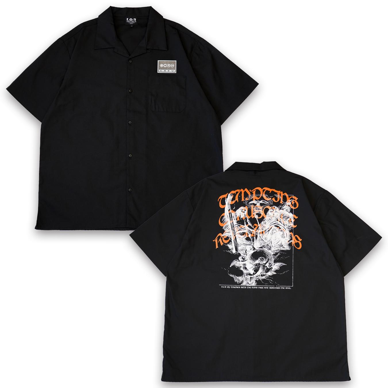 T.C.R GOD CREW BUFFALO S/S SHIRTS  - exclusive -  BLACK