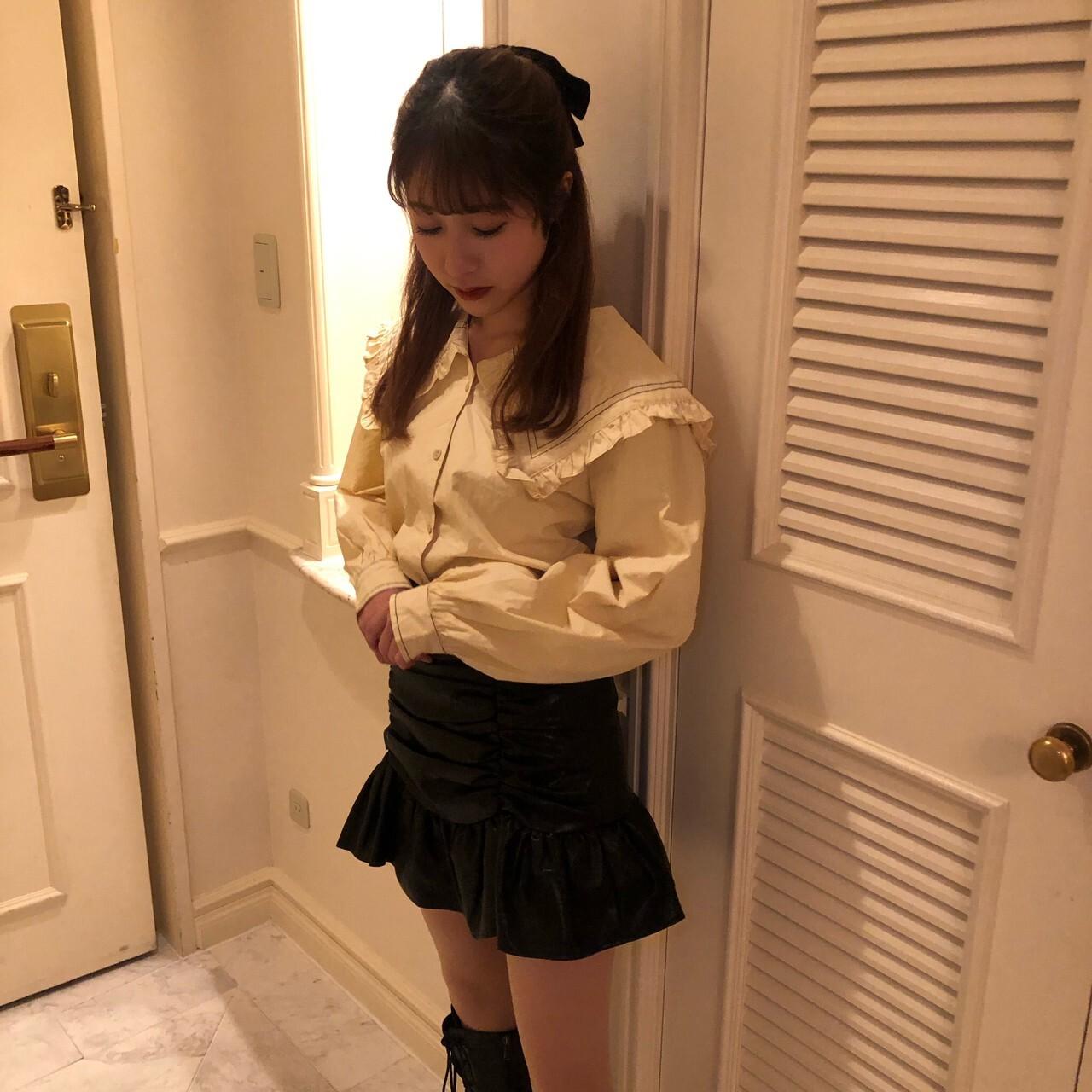 【feellie】sailor frill blouse