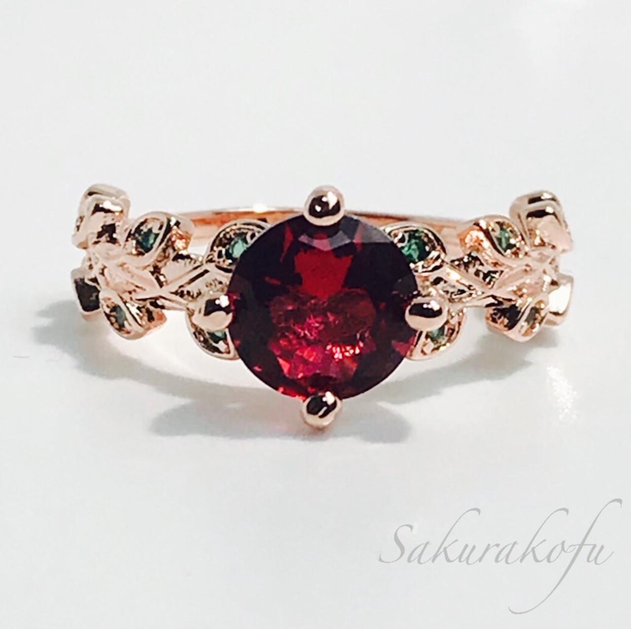 D011 送料無料 レディース 指輪 薔薇デザイン ローズゴールドリング