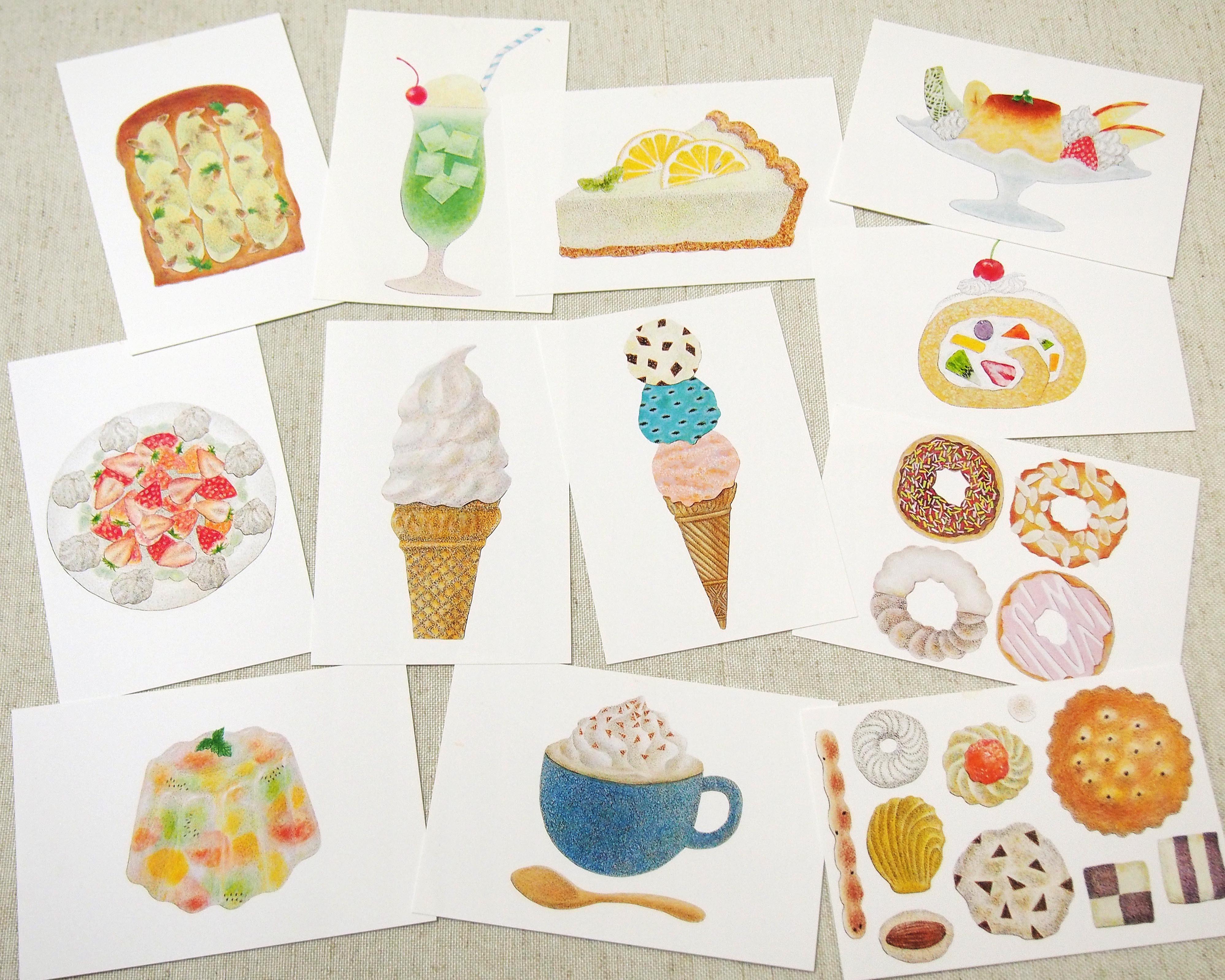 ポストカード 12枚セット *お菓子*