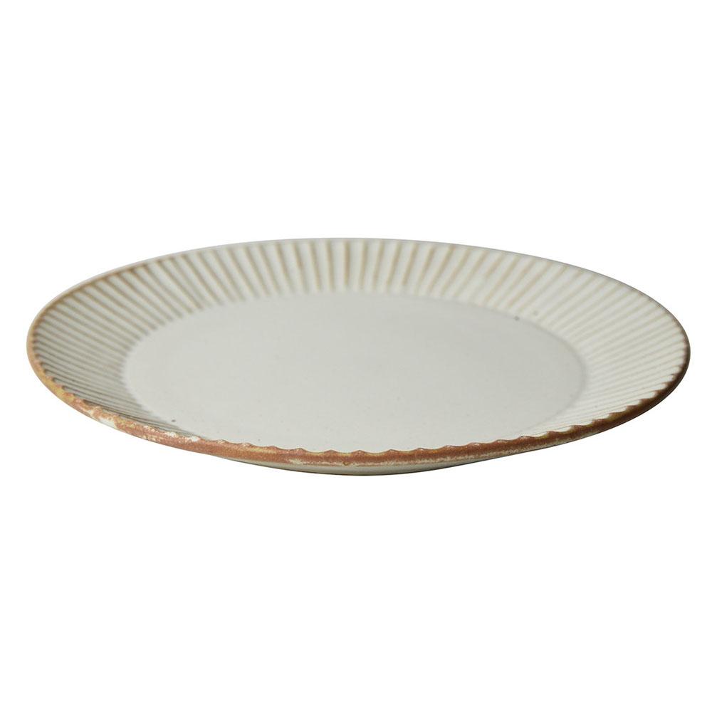 益子焼 つかもと窯 「 SHINOGI 」 プレート 皿 L ホワイト TS-02