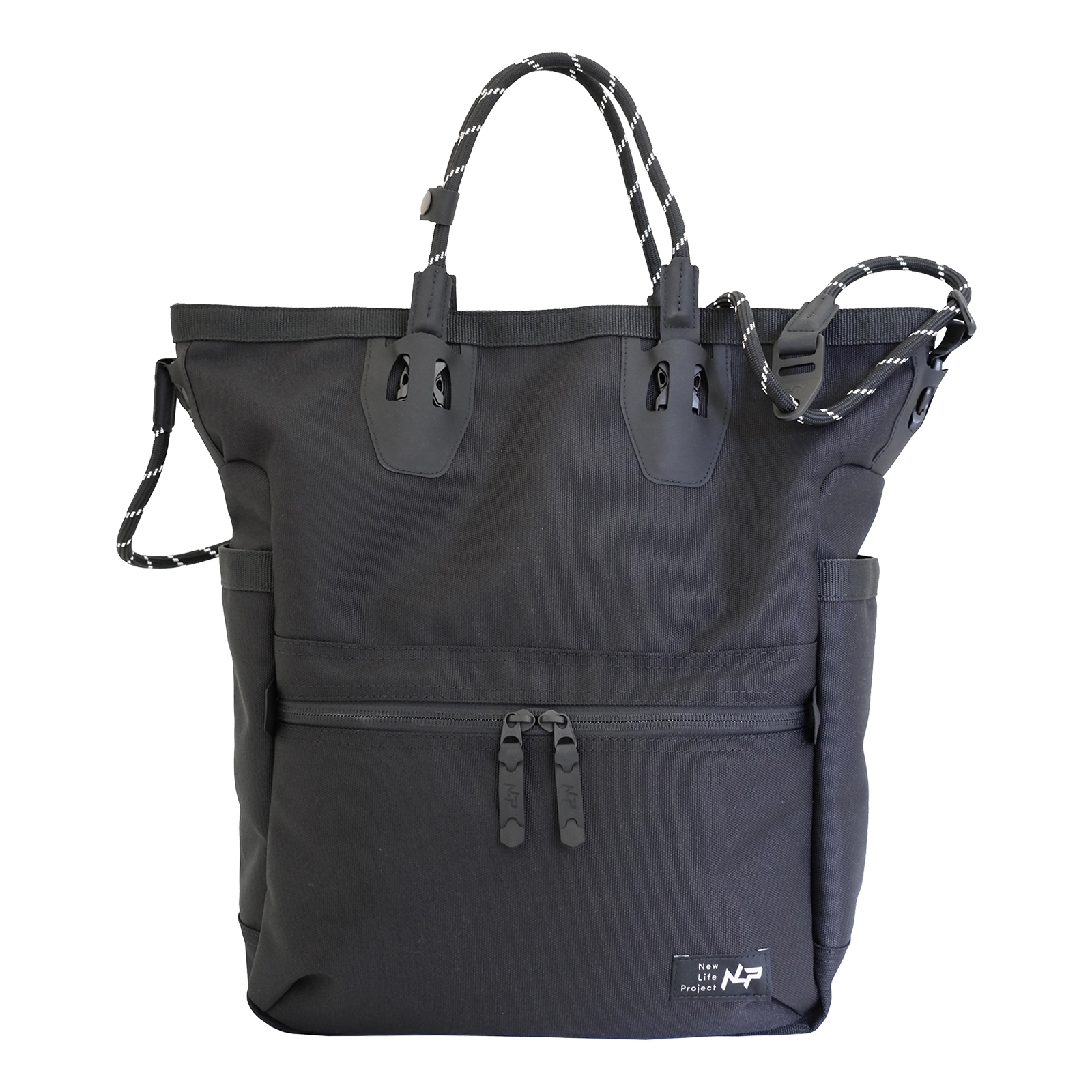 ECO CANVAS TALL TOTE<NEW LIFE PROJECT>
