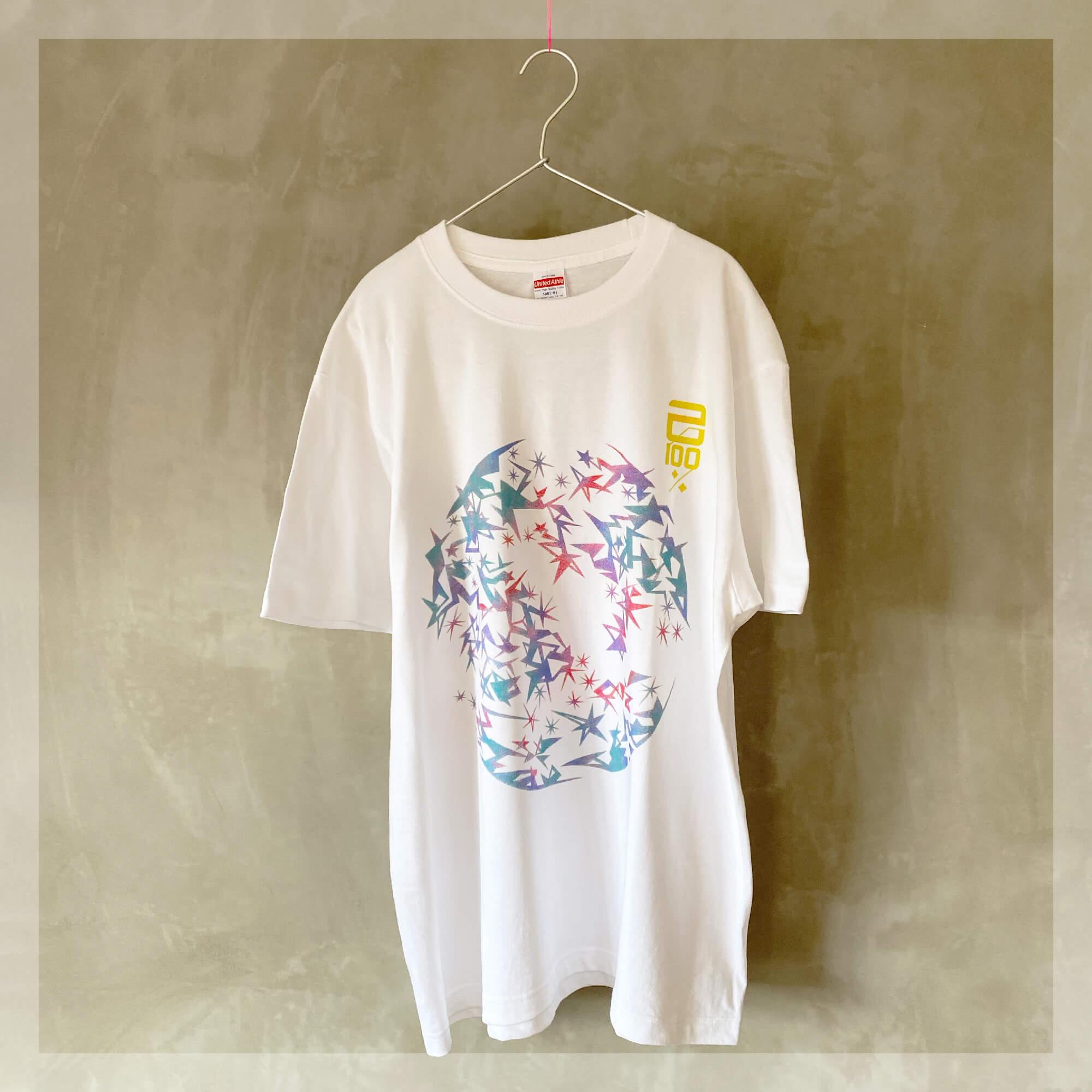 【Tシャツ】 スターダスト・カモフラージュ ○ 己100% / ホワイト
