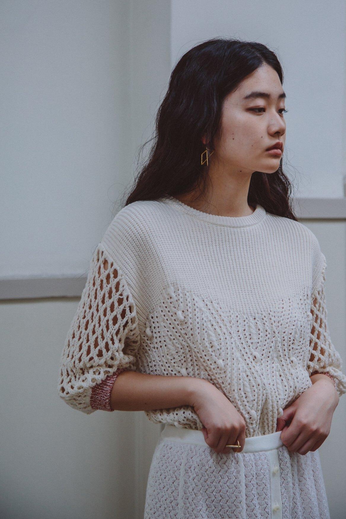YUKISHIMANE cindy sweater white
