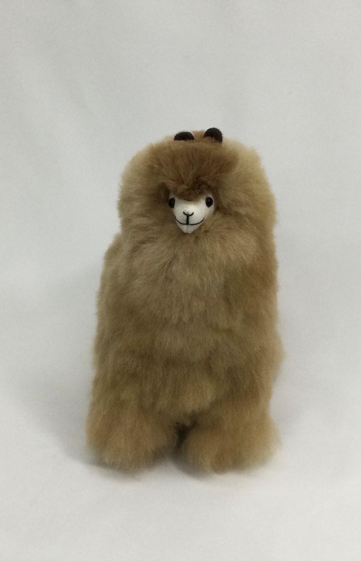 アルパカ純毛人形 ライトブラウン 30cm