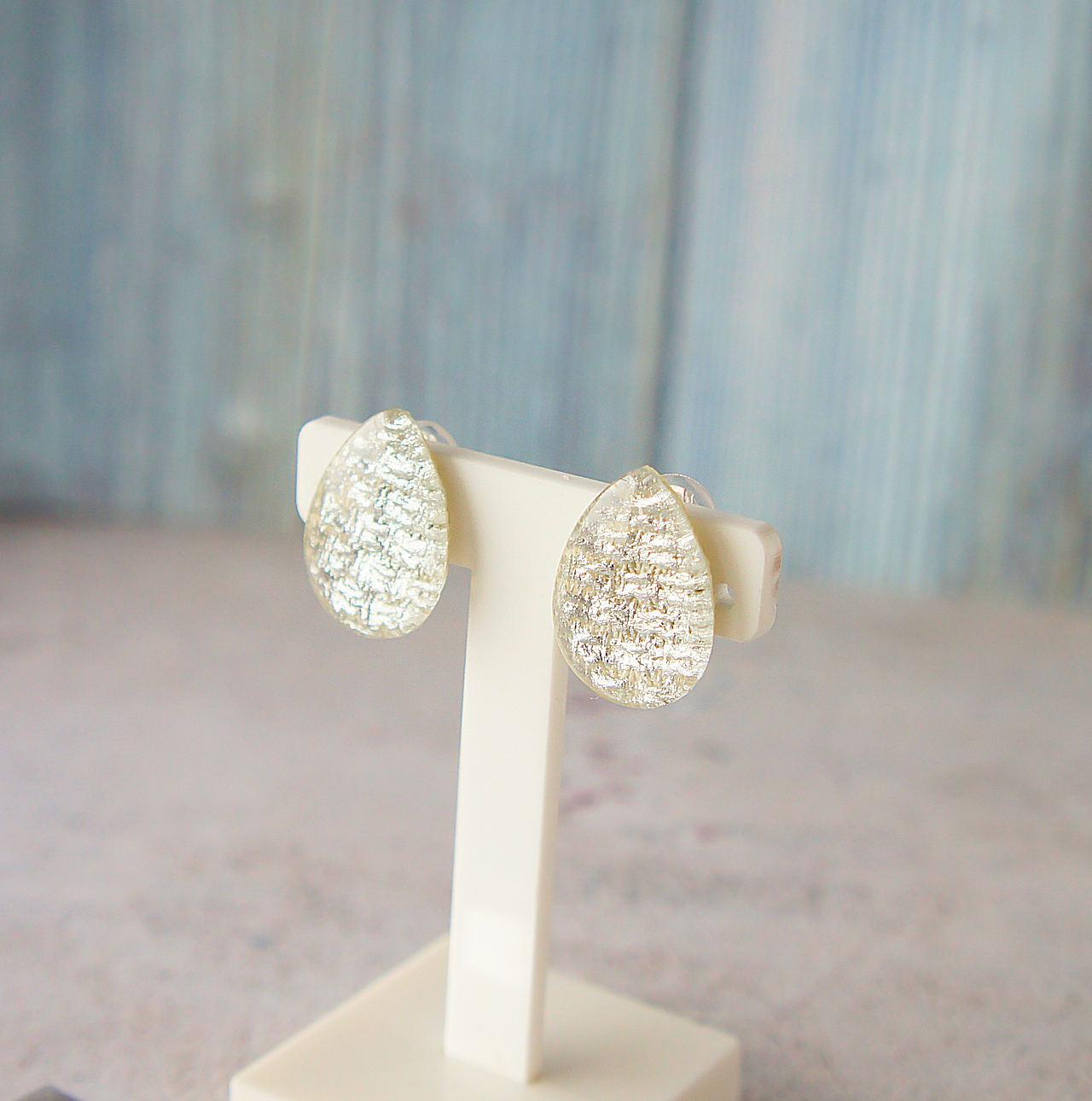 """"""" Earrings NO.0-1897″ シルバードロップ 25×18㎜"""