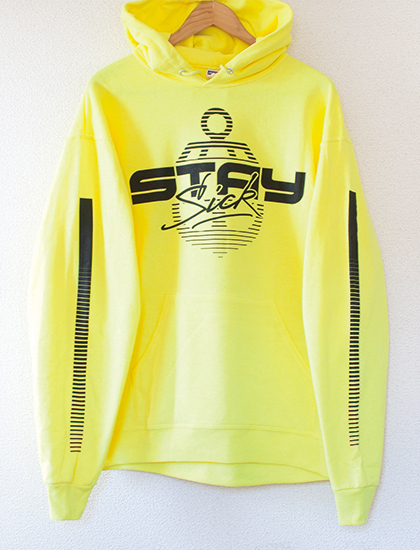 【STAY SICK CLOTHING】1980's Hoodie (Neon Yellow)