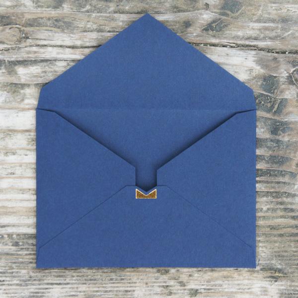 【シンプル紺】カード付スタイリッシュ封筒 HSC01B