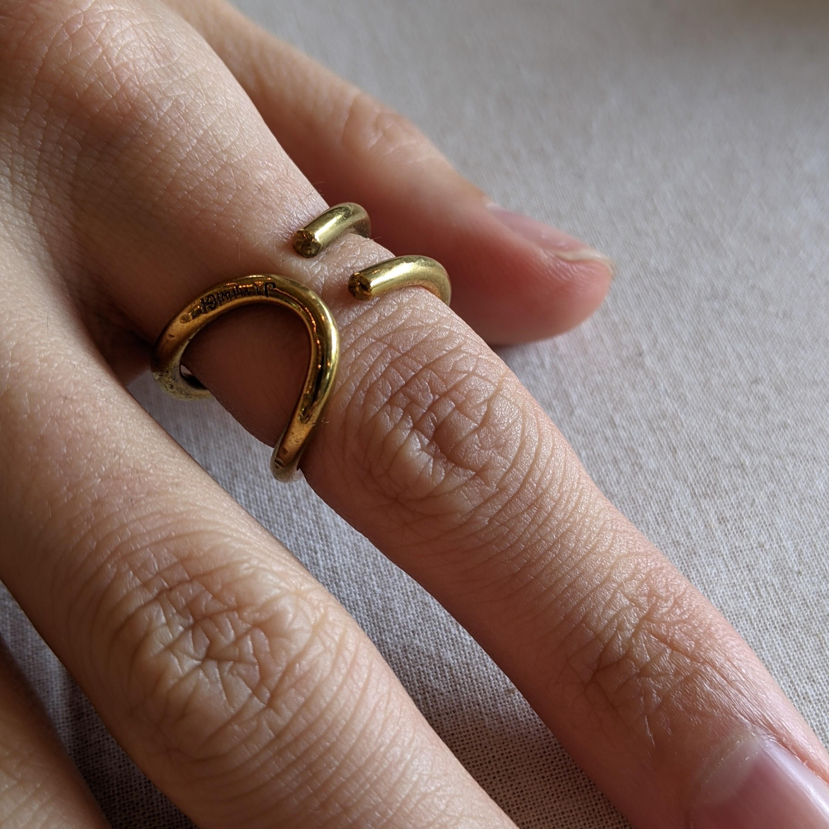 【 jomathwich 】brass ring / R-20  / 真鍮リング / おおよそ16号サイズ