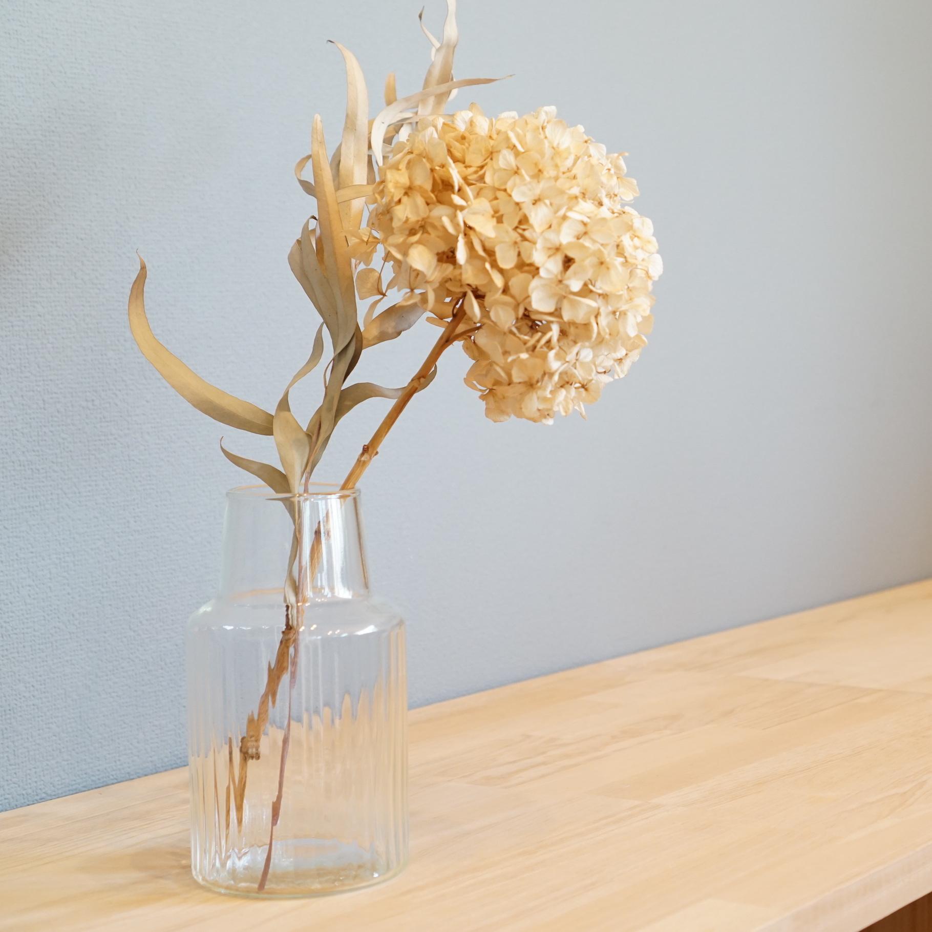 シンプルだから使いやすい!リューズガラス  クーレライン フラワーベース シム