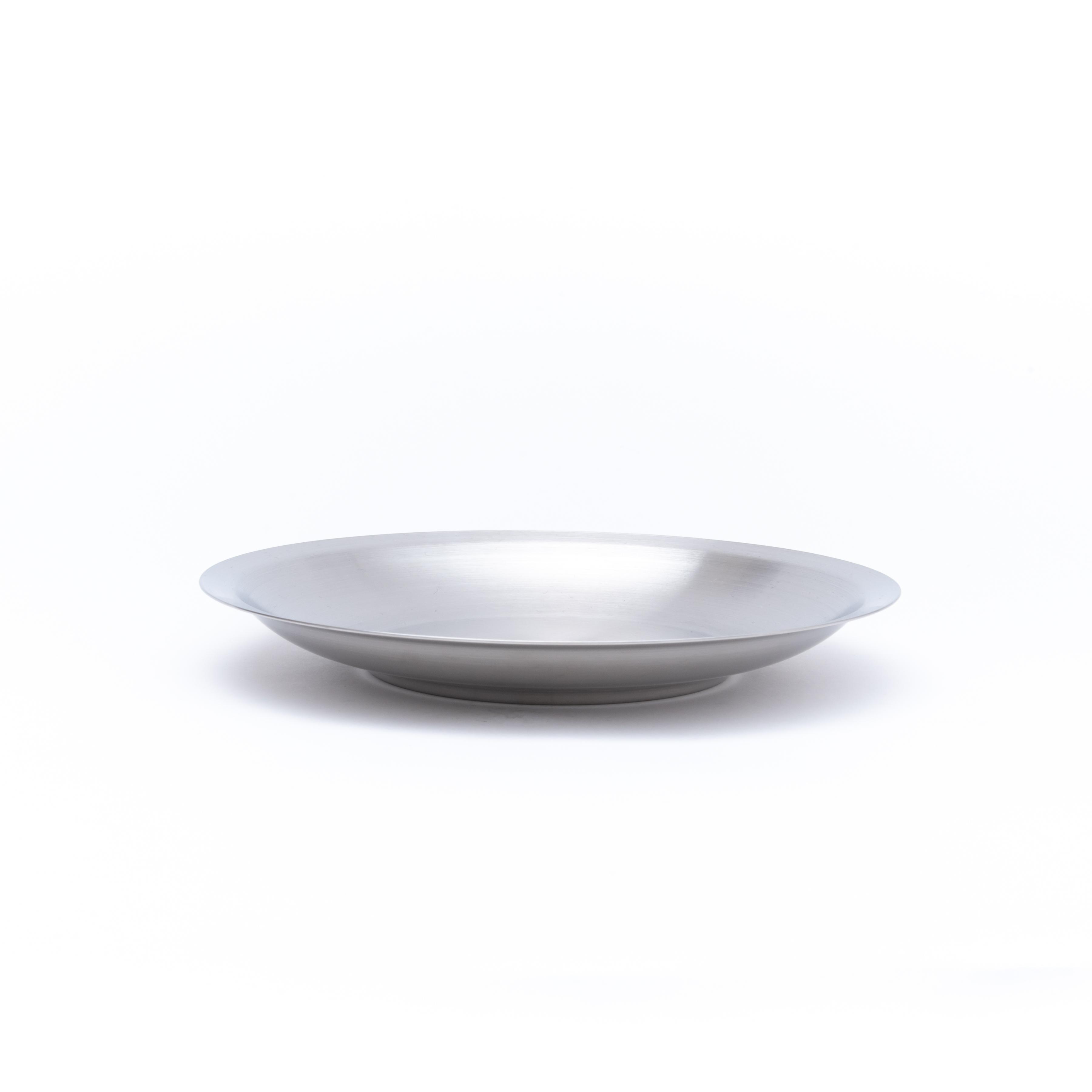 韓国ステンレス食器/平皿(2号)【直径23㎝/高さ2.7㎝】