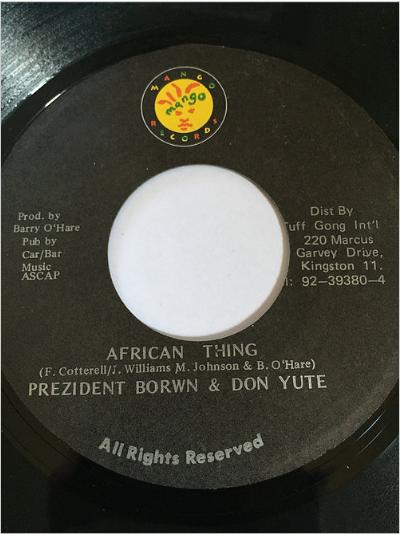 Prezident Brown(プレジデントブラウン) & Don Youth(ドンユース) - African Ting【7'】
