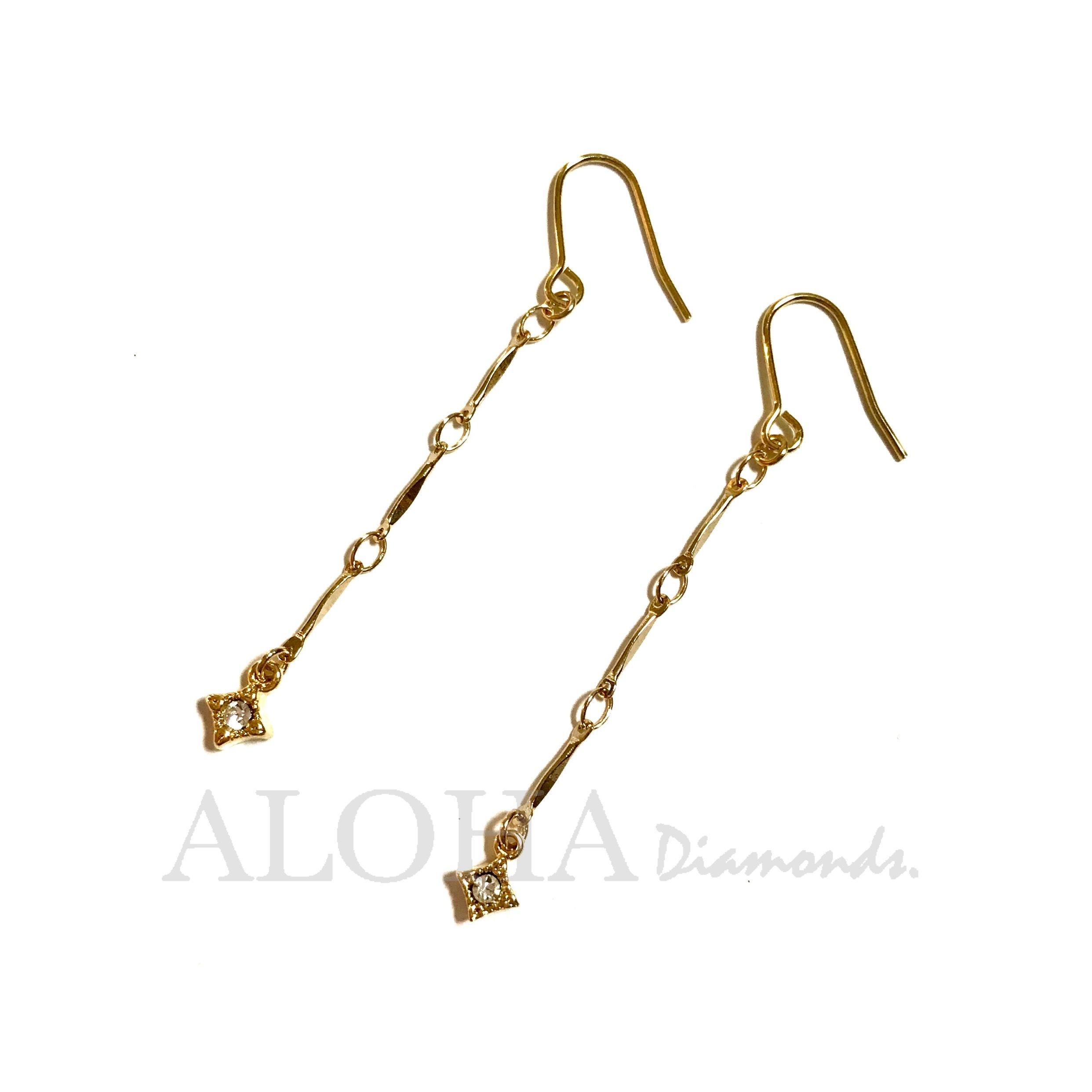 ✴︎✴︎✴︎ Air Crystal ✴︎✴︎✴︎ ゴールド/ピアス・イヤリング(単品)