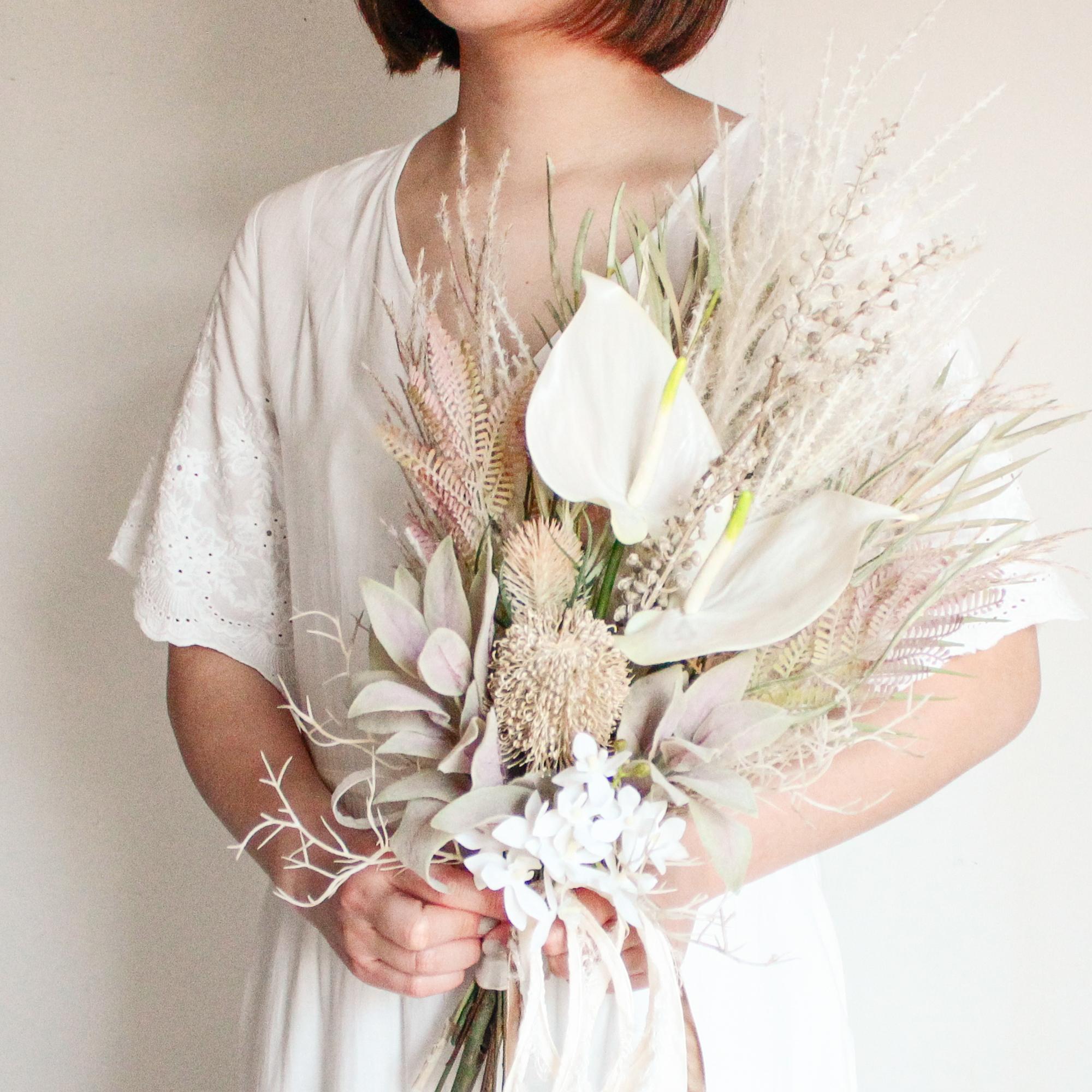 Gradation color Bouquet & Boutnniere