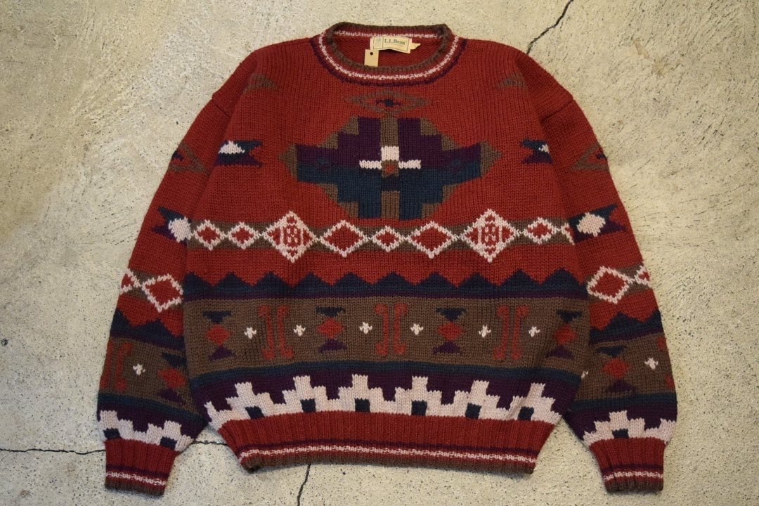 USED 80s L.L.Bean Wool sweater -Large S0756