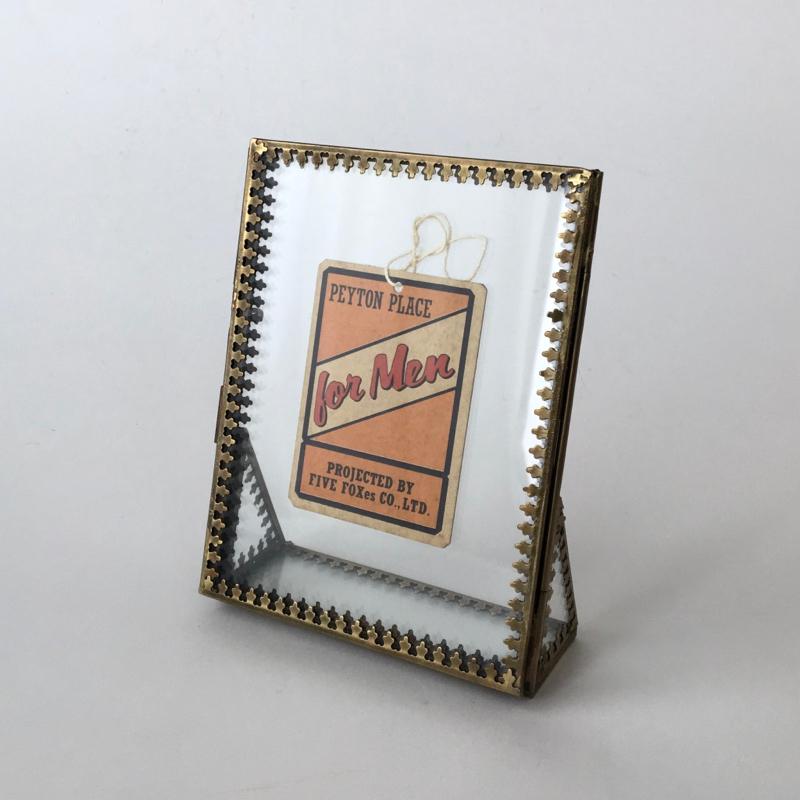 真鍮とガラスのフォトフレーム(14cm) Brass & Glass Photo Frame