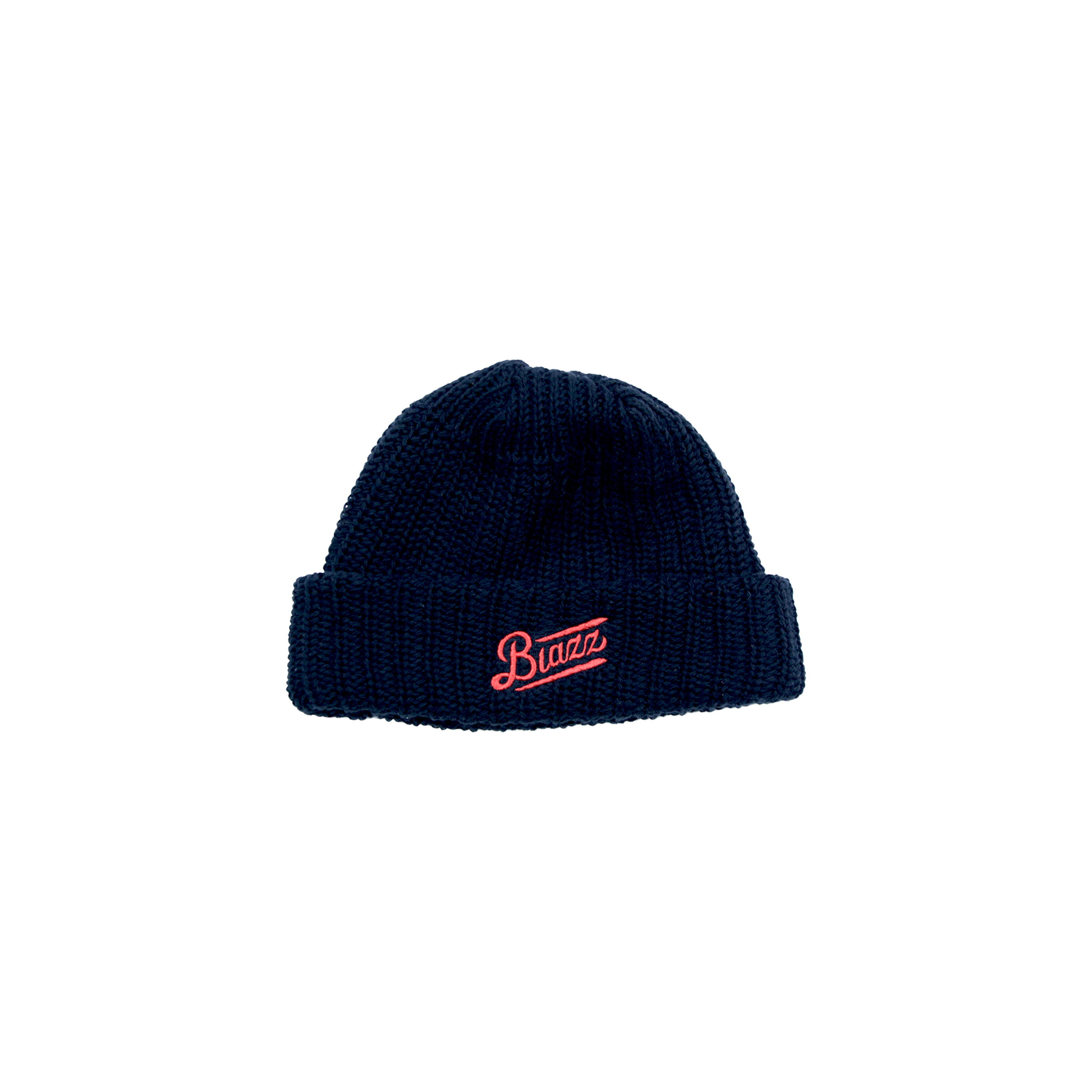 LOGO SHORT BEANIE [BLACK x RED]