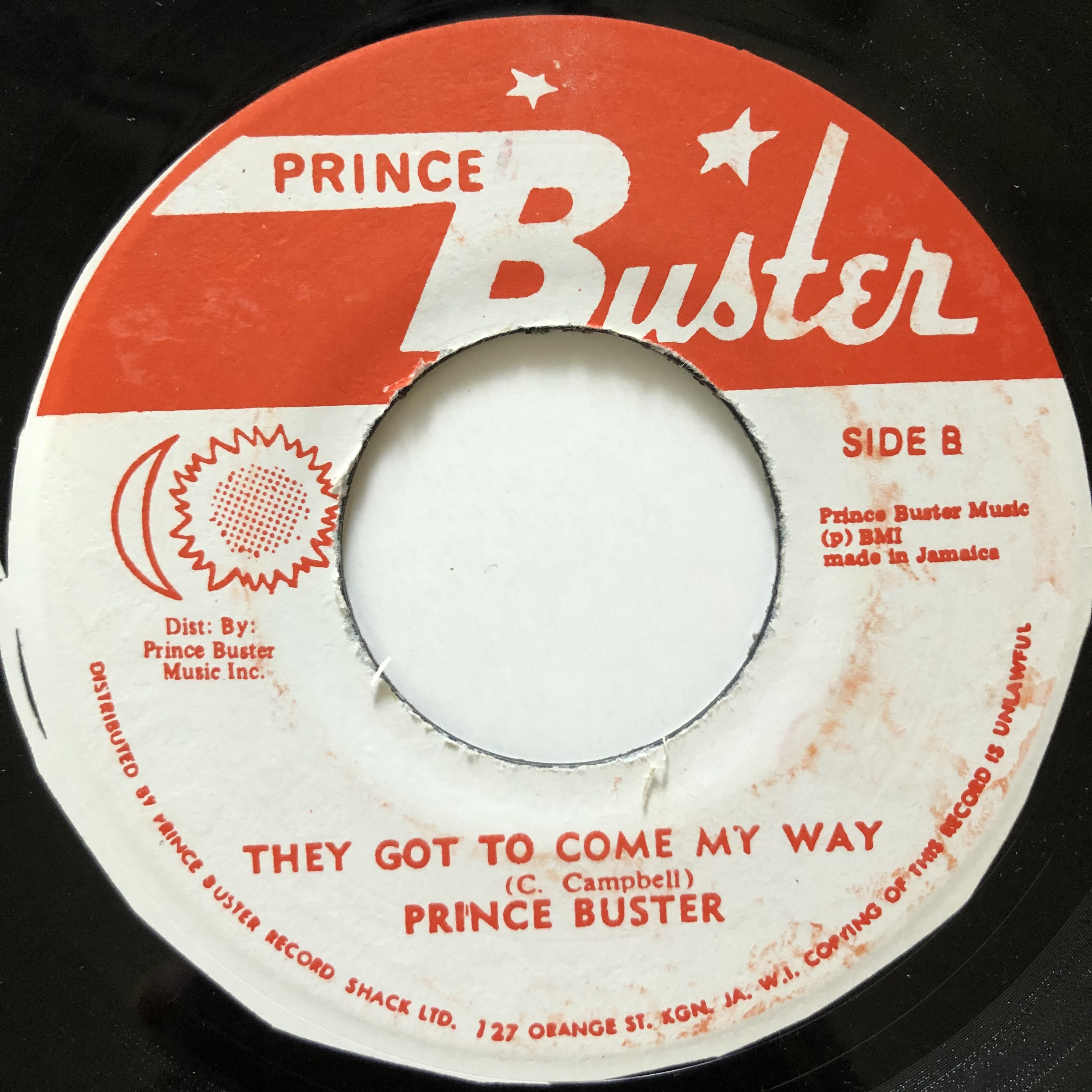 Prince Buster - They Got To Come【7-20540】