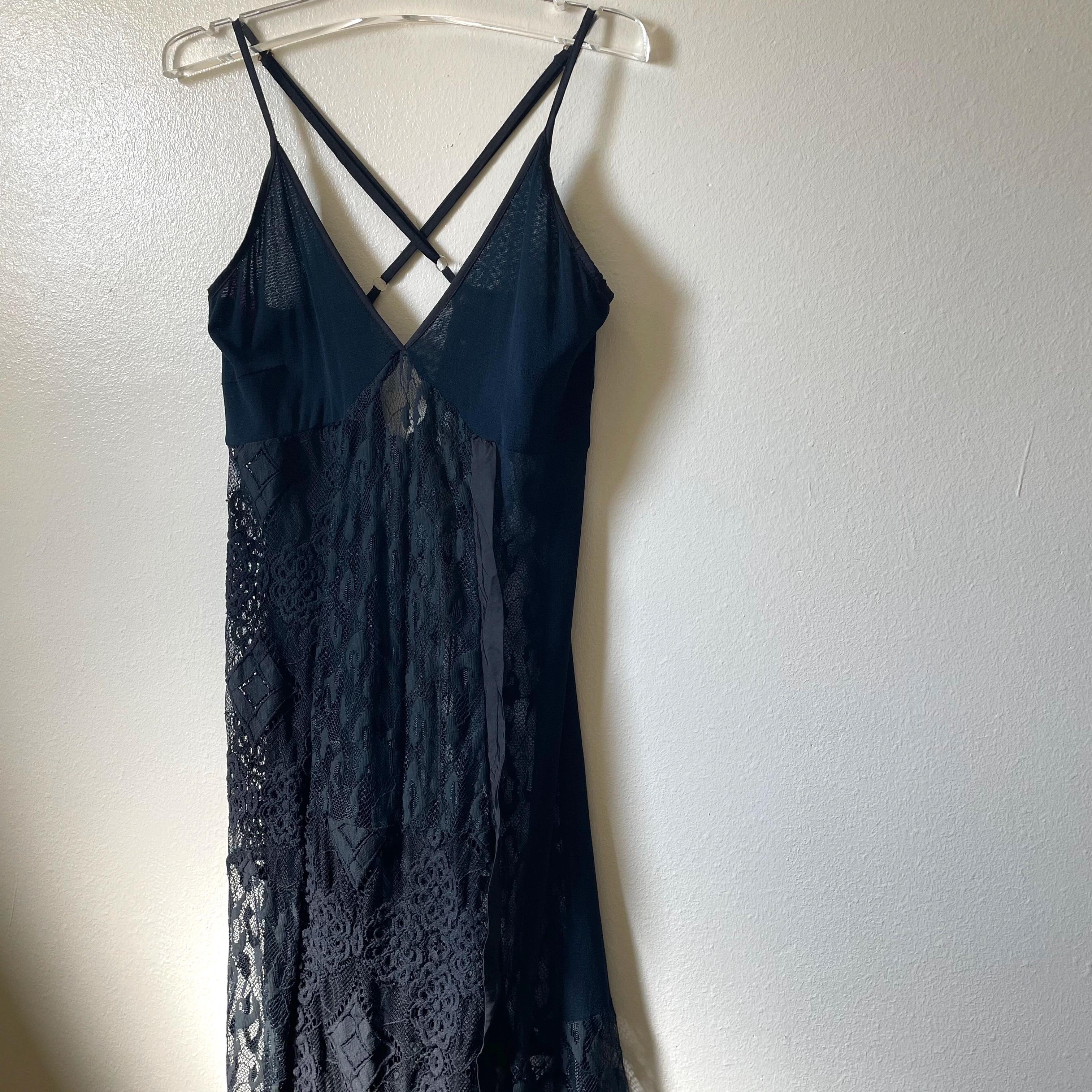 【RehersalL】lace camisole dress (black)/【リハーズオール】レース キャミソール ドレス(ブラック)