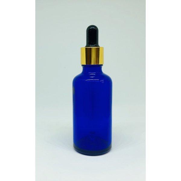 【スポイト ボトルグラス】50ml 青色 ブルー 遮光 ガラス製 黒色 ブラック スポイト 化粧水 エッセンシャルオイル 美容液 アロマ 詰替え用 詰替