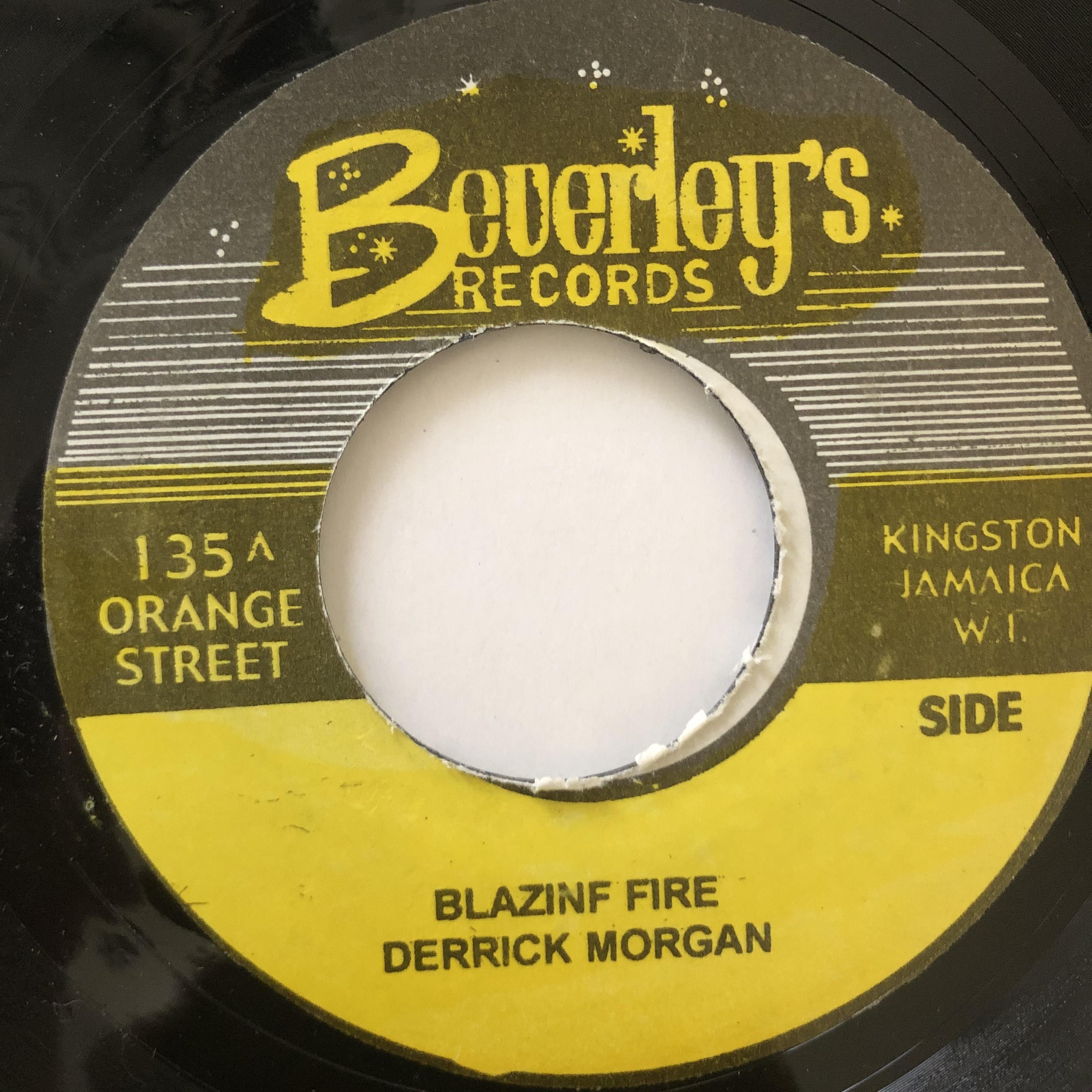 Derrick Morgan - Blazing Fire【7-20663】