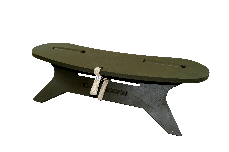 「限定」C型テーブル ブーメラン「abeno paint カラーOD」(塗装天板)焚き火 テーブルC TABLE Boomerang W800  アウトドア テーブル