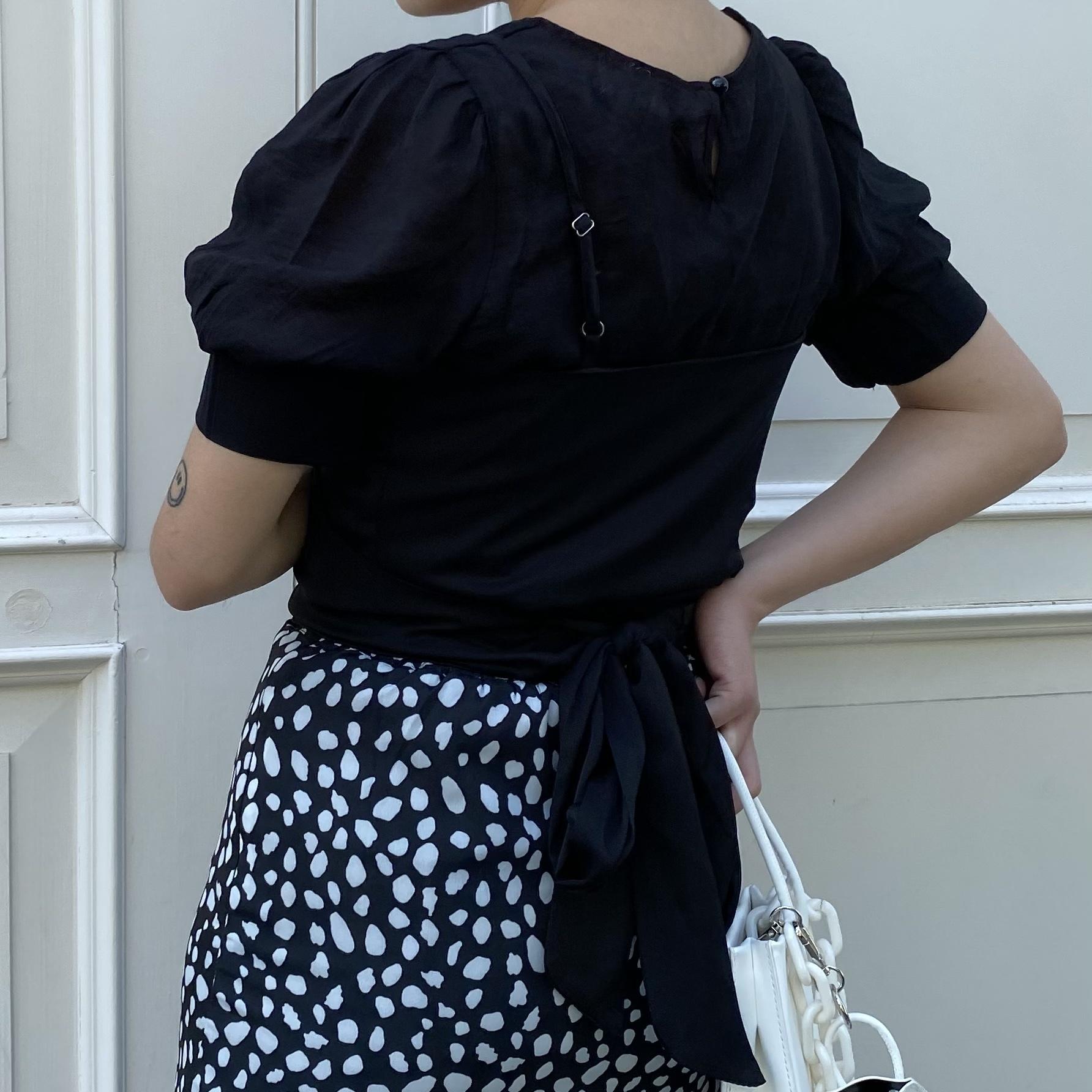 【Belle】cross camisole sheer tops